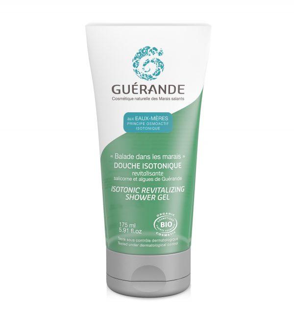 douche isotonique de Guérande Cosmetics. 175 ml. Composé d'eaux-mères et de salicorne