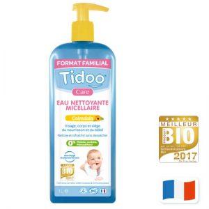 Eau nettoyante micellaire bio bébé au calendula 500 ml