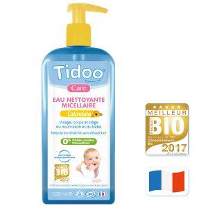 eau nettoyante micellaire bio pour bebe. Tidoo 500 ml