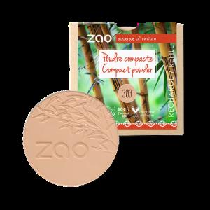 recharge poudre compacte Zao make up 303 beige abricot