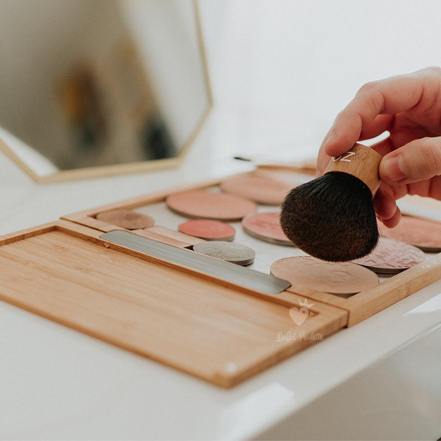 palette maquillage et kabuki zao make up