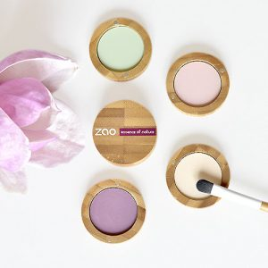 ombres à paupières mates bio zao make up