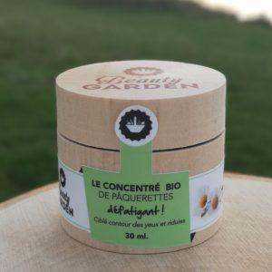 concentré bio de Pâquerettes beauty garden 30ml soin anti-fatigue de la peau