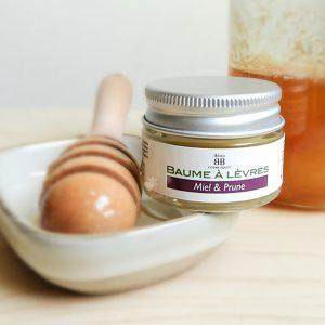 baume à lèvres miel et prune bio ibbeo cosmétiques