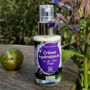 crème hydratante lin et prune ibbéo cosmétiques