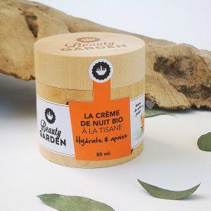 crème de nuit bio tisane Beauty Garden 50 ml