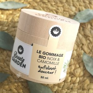 gommage bio noix et camomille Beauty Garden 50 ml