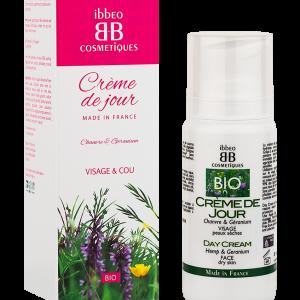 crème de jour chanvre et géranium Ibbéo cosmétiques. 100 ml