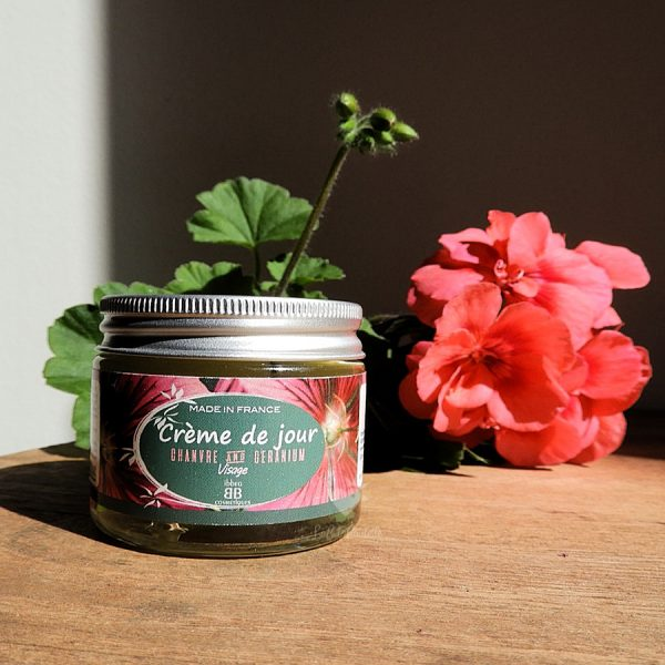 crème jour chanvre géranium ibbéo