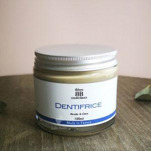 dentifrice argile menthe citron ibbeo cosmétiques pot en verre 100 ml
