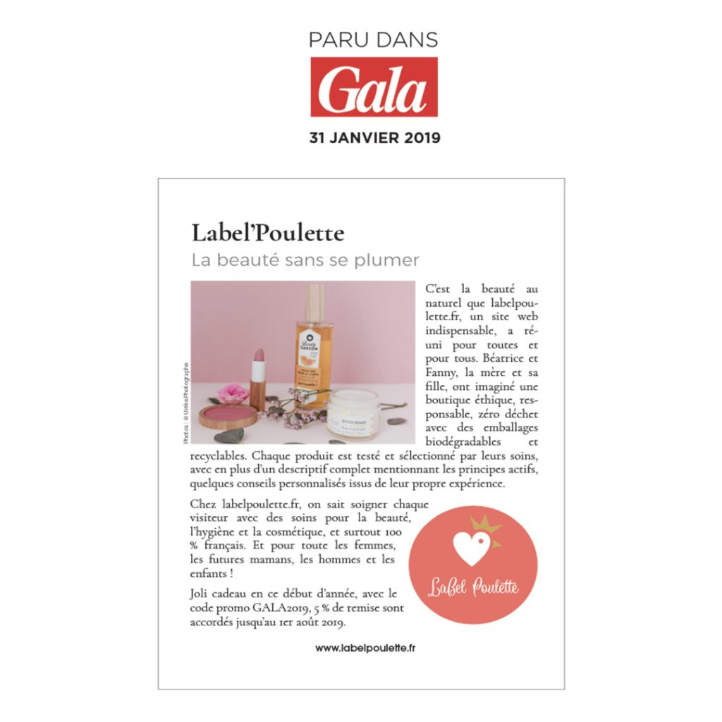article gala Label'Poulette Tendances 2019