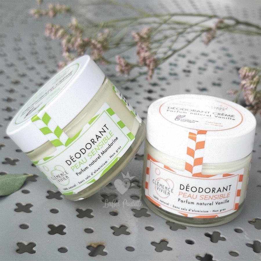 deodorant creme peau sensible Clémence&Vivien