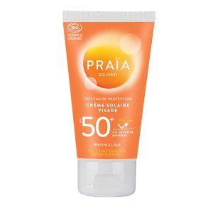 crème solaire visage Praia 50 ml