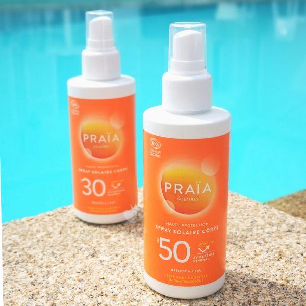 Crème solaire Praia en spray