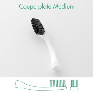 tete brosse à dents interchangeable bioseptyl poils médium