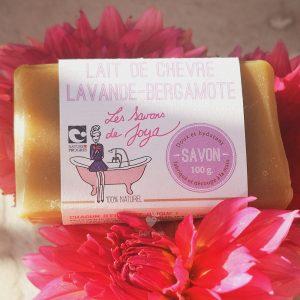 savon lait de chevre lavande bergamote savons de joya 100g