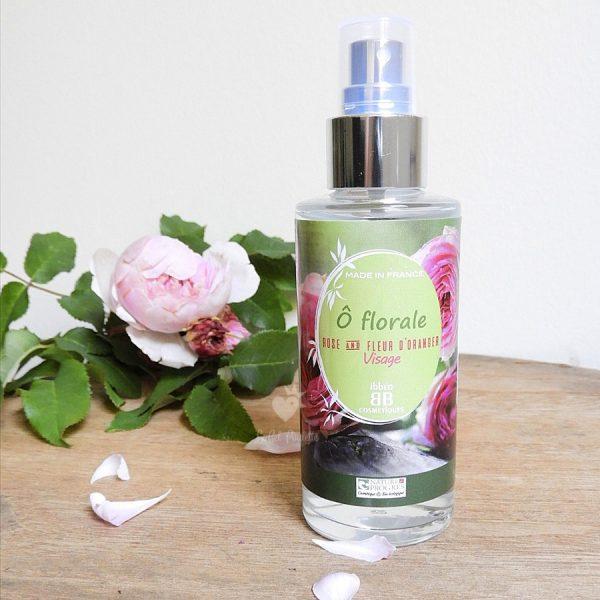 eau florale rose fleur d'oranger ibbéo cosmétiques