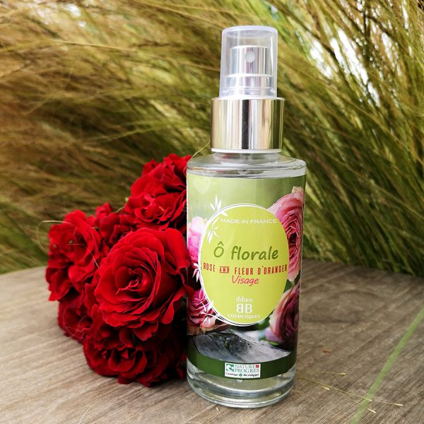 hydrolat de rose et fleur d'oranger bio ibbéo cosmétiques
