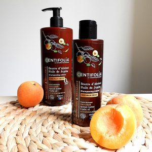 shampoing crème cheveux secs centifolia 500ml et 200 ml