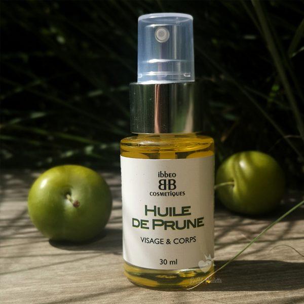 huile de prune bio Ibbéo Cosémtiques