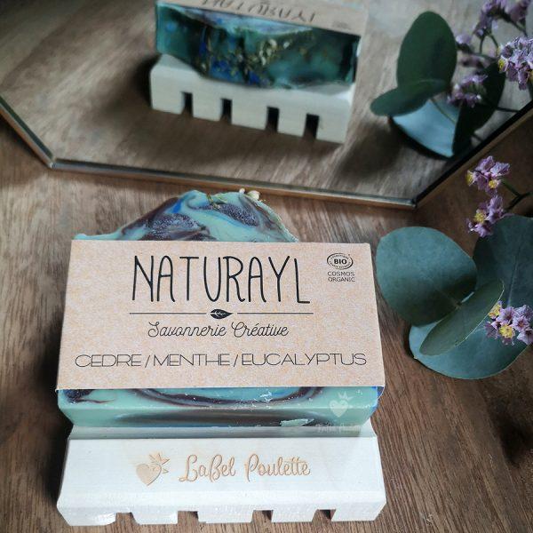 Savon cèdre, menthe et eucalyptus Naturayl