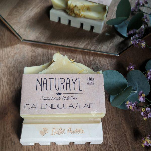 savons surgras calendula et lait de chèvre Naturayl