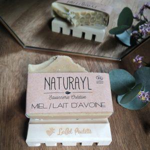 savons surgras miel et lait d'avoine Naturayl