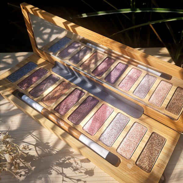 palette ultra shiny zao make up ombres à paupières nacrées bio