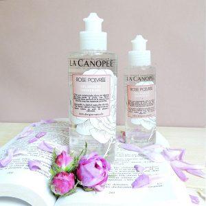 gel douche rose poivrée La Canopée 200 et 100 ml