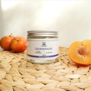 gommage corps prune et lin ibbeo cosmétiques